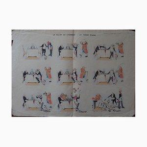 Gravure The Lodging Ticket par Caran d'Ache, 1893