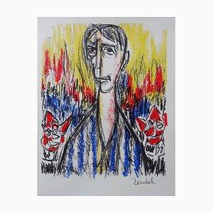 Litografía Antechamber of Hell de Gabriel Zendel, 1963