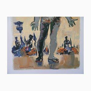 Lithographie The Peasant of the Danube par Lucien Fontanarosa, 1961