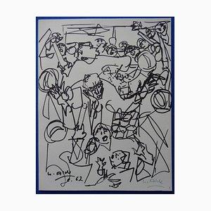 Yvette Alde, The Party, 1963, Rotogravure firmado