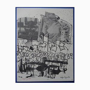 Grabado Demonstration grande de Roger Bezombes, 1963