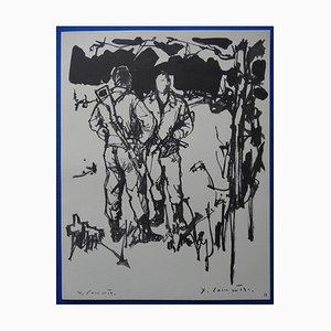 Incisione The Resistance di Jean-Yves Commère, 1963