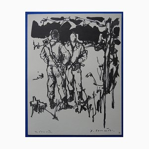 The Resistance Radierung von Jean-Yves Commère, 1963