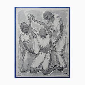 Grabado Gandhi de Jean Dries, 1963