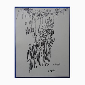 Grabado Fête Nationale Helio de Auguste Durel, 1963