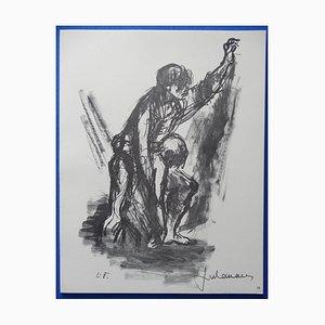 Incisione Injured di Lucien Fontanarosa, 1963