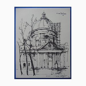 Grabado The Pantheon de Michel de Gallard, 1963