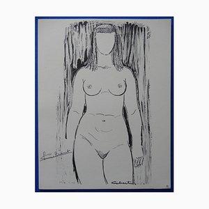 Gravure Sculpturale par Lucien Gilbert, 1963