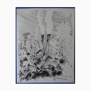 Incisione Le Grand Bleu di Pierre Lelong, 1963