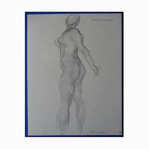 Gravure Hommage à Rodin Helio par Raymond Martin, 1963