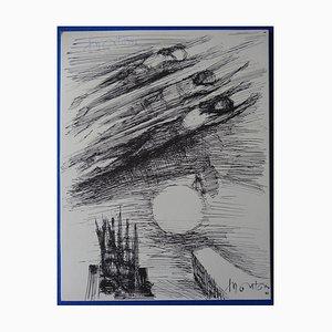 Grabado Solar Swimming de Roger Montane, 1963