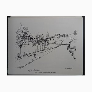 Thorigny-sur-Creuse en el grabado Yonne Helio de Michel de Gallard, 1961