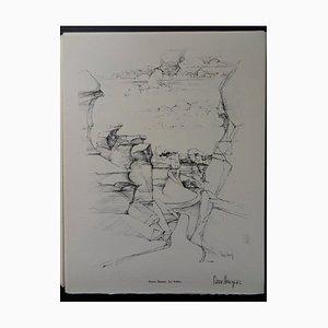 Grabado The Valley Helio de Pierre Henry, 1961