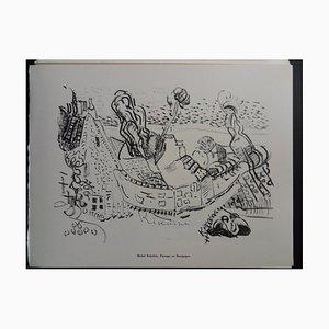 Paisaje de Bourgogne Helio Engraving de Michel Kikoine, 1961