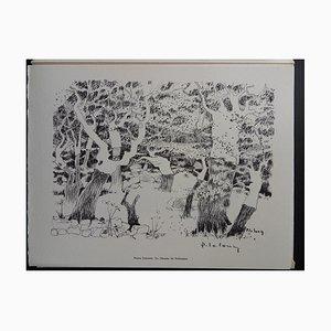 The Way of Solenzana Helio Radierung von Pierre Lelong, 1961