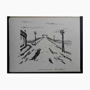 Grabado Road at Sunset Helio de Armand Nakache, 1961
