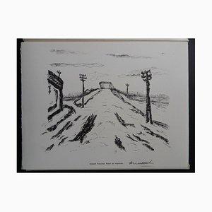 Road at Sunset Helio Radierung von Armand Nakache, 1961