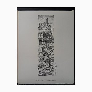 Gravure Route de St-Paul-de-Vence par Jean Raffy le Persan, 1961