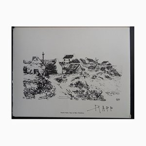 Grabado The In Bay of Audierne de Ginette Raff, 1961