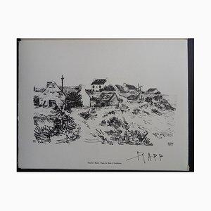 Incisione Bay of Audierne di Ginette Raff, 1961