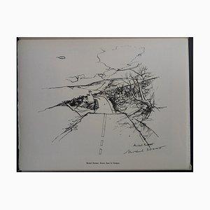 Gravure de la Gravure Garigue Helio par Michel Rodde, 1961