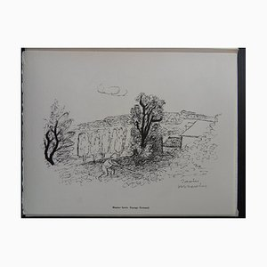 Gravure Paysage Helio de Normandie par Maurice Savin, 1961
