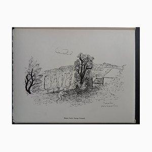 Normandie Landscape Helio Radierung von Maurice Savin, 1961