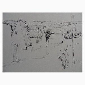 Gravure Route de Dampierre at Senlisse par Simon-Auguste, 1961