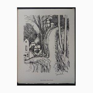 Gravure Chemin Forestier par Gabriel Zendel, 1961