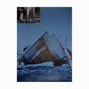 USA Ruins Silkscreen by Jacques Monory, 1976