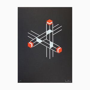 Penrose Triangle of Falsification Lithograph by Josep Molins, 2003
