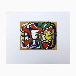 Stillleben mit Äpfeln Lithographie nach Fernand Léger