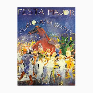 Lithographie Festival par Francesc Artigau, 1985