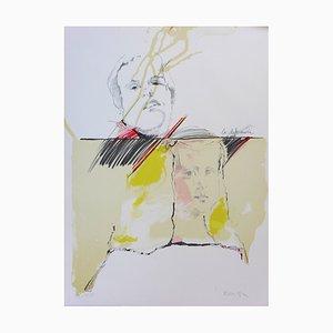 Lithographie Gaufrée sur Papier Vélin Guarro par Roser Bru & Velasquez Menine, 1979