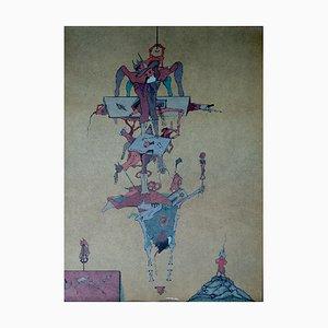 Lithographie Ash-4 par Jorge Camacho, 1974