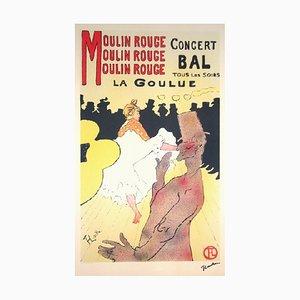 Lithographie Moulin Rouge d'après Henri de Toulouse-Lautrec, 1982