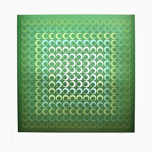 Tribute to Vasarely 9 Photolithograph by Jim Bird, 1972