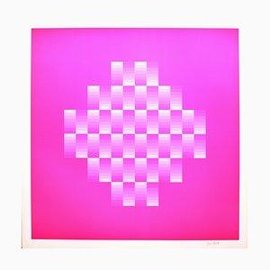 Hommage à Vasarely 10 Photolithographie par Jim Bird, 1972