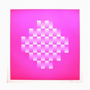 Tribute to Vasarely 10 Photolithograph by Jim Bird, 1972