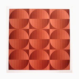 Tribute to Vasarely 4b Photolithograph by Jim Bird, 1972