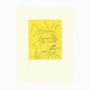Litografía Composition de Joan Ponç, 1979