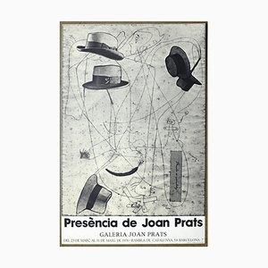 Affiche Exposition Presence of Joan Prats par Joan Miró, 1983