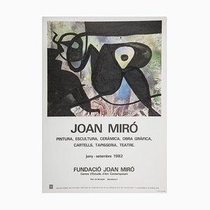 Poster raffigurante la mostra della Fondazione Miro di Joan Miró, 1983