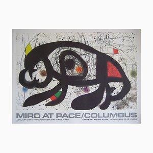 Affiche AT PACE Columbus Ohio Lithographie par Joan Miró, 1983