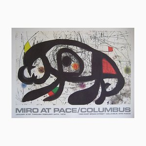 AT PACE Ausstellung Columbus Ohio Lithografie Poster von Joan Miró, 1983