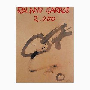Affiche Roland Garros 2000 par Antoni Tàpies, 1923
