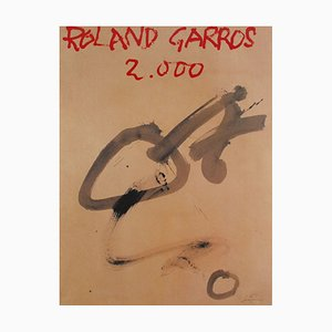 Roland Garros 2000 Poster by Antoni Tàpies, 1923
