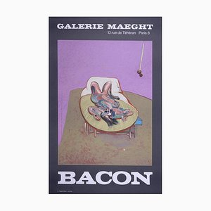Vintage Lying Woman Lithograph Poster after Francis Bacon, 1909