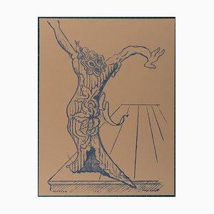 Lithographie Electra par Max Ernst, 1959