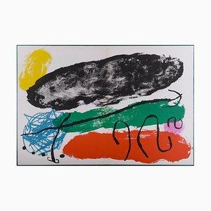 Litografía The Hard Red de Joan Miró, 1960